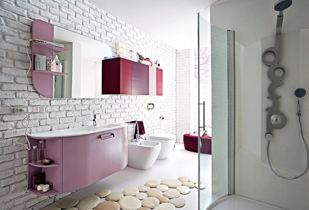 Badezimmer Lila